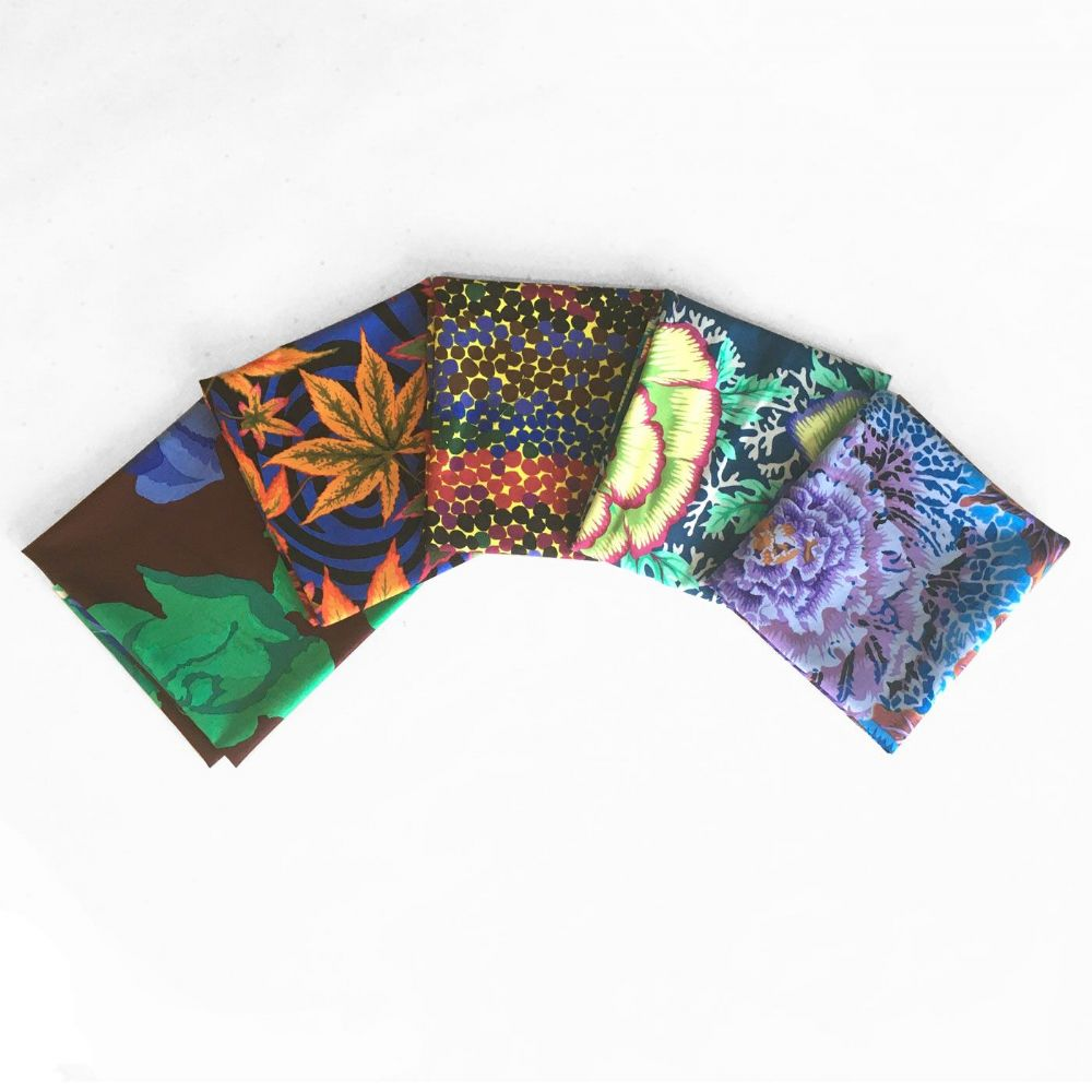 Kaffe Fassett 5 Fat Quarters - Adventurous Darks
